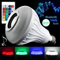 Lampada Led Rgb Bluetooth S900a Caixa De Som 15w + Controle