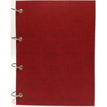 Caderno Universitário Argolado Fichário Vermelho 192 Fls
