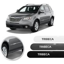 Friso Subaru Tribeca Prata Preto Branco Jogo Lateral Novo