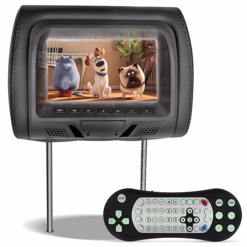 Tela Encosto Cabeça 7 Lcd Entrada Usb Dvd Sd Grafite Cd Game