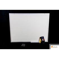 Lousa Quadro Branco Moldura De Aluminio 80x100 Cm + Brindes