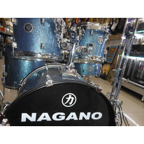 Bateria Nagano Garage - Azul Ocean Sparkle - Wd Instrumentos