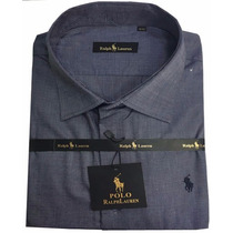 Camisa Social Masculina Polo Rfl02 Chumbo
