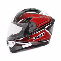 Capacete Moto X11 Impulse Com Viseira Solar Vermelho Tam 56