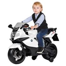 Moto Elétrica Infantil Bmw K1300 Branca 6v Bandeirante