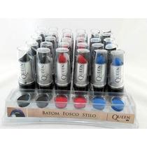 Batom Queen Fosco - 30 Batons - Preto - Azul - Vermelho