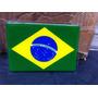Adesivo Resinado Da Bandeira Do Brasil 9 Cm Por 6 Cm
