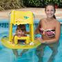 Boia Inflável Fralda Infantil Toldo Protetor Solar Piscina