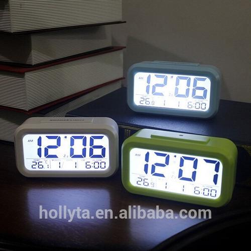 0b13851b619 Relógio Digital De Mesa Led Lcd Ascende Luz No Escuro R 54.9 l0VDQ ...