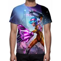 Camisa, Camiseta Game League Of Legends Vi Golpes De Neon