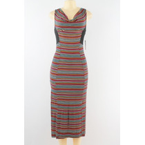 Jessica Simpson Cowl Neck Vestido Listrado Multi-color