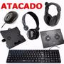 Atacado Revenda De Informatica 40 Itens Teclado Mouse Fones