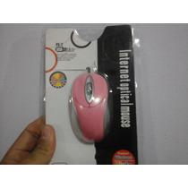 Mouse Óptico Usb 1000 Dpi Rosa / Notebook / Netbook / Pc