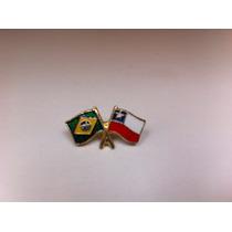 Pins Da Bandeira Do Brasil X Chile