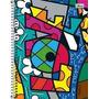 Caderno Espiral Romero Brito 96 Fls Kit C/5 Cadernos-tilibra