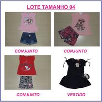Lote Kit Menina Peças Novas Brandili, Elian, Kyly Tamanho 04