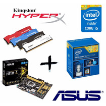 Kit I5 4460 + Asus H81m + Mem 8gb Kingston Hyperx Fury