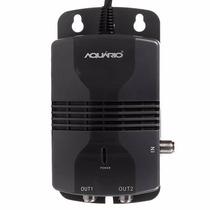 Amplificador Sinal Antena Aquário Al-1020 Hdtv 2 Saídas