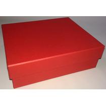 Kit Com 10 Caixas De Presente Em Papelão Na Cor Vermelha