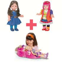 Boneca Chiquititas Laura + Mili + Vaidosa - Cotiplás