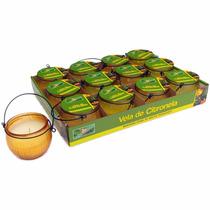 Display Com 12 Velas De Citronela Em Lamparinas - Repelente