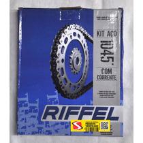 Kit Relação Riffel Aço 1045 Xtz125 , Xtz 125