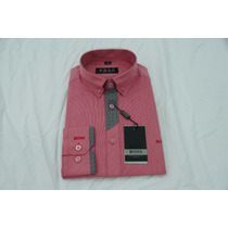Camisa Social Masculina Hugo Boss Cor Terracota