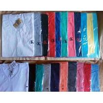 Kit 15 Camisa Camiseta Gola V Varias Marcas Revenda Atacado