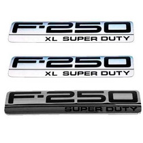 Kit 3 Emblemas Xl Super Duty Lateral / Traseira F-250 06-10*