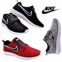 Tênis Masculino Feminino Nike Roshe Flyknit Macio Caminhada