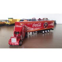 Caminhão Carreta Coca Cola Bau Miniatura Escala1/87 Maquete