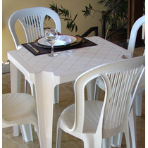 Conjunto 1 Jogo De Mesa 4 Cadeira Bistrô Sem Apoio P/braço