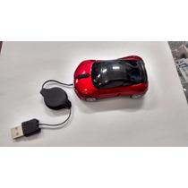 Mini Mouse Óptico Carrinho Com Cabo Retrátil