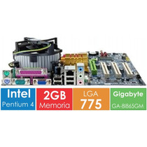 Kit Placa 775 Gigabyte + Proc. Pentium + Mem. 2gb Nf E Garan
