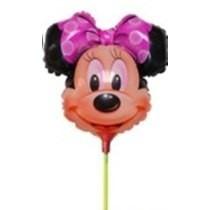 Balão Metalizado Minnie Rosa Enfeite De Mesa Tam:32cm Kit/20