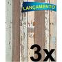 Papel Adesivo Contact Madeira De Demolição 45cmx10mt / 3 Und