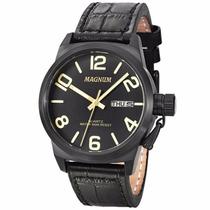 Relógio Masculino Magnum Ma33399p Esportivo Pulseira Couro