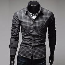 Camisa Manga Longa Social Grife Vska Masculina Lançamento