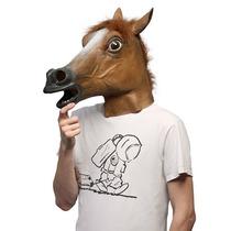 Máscara De Cabeça De Cavalo Látex Cosplay - Pronta Entrega
