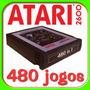 480 Jogos De Atari Com Menu Na Tela E Botão Reset Incrivel !