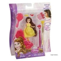 Boneca Princesas Disney Mini Bella Hair Mattel