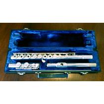 Flauta Transversal Emerson Pé Em Dó, Aberta, Made In Usa
