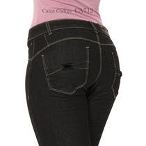 Calça Preta Skinny Sawary Com Bojo Modela Bumbum Promoção