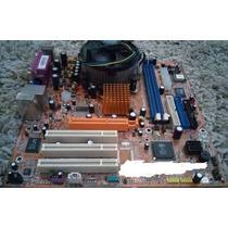 Placa Mãe Itautec N1996 +cooler+memória 1gb+ Processador