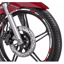 Friso Adesivo Refletivo Roda Tricol M02 Moto Honda Titan 160