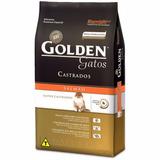 Ração Golden Gatos Adultos Castrados Salmão 10,1 Kg +brinde