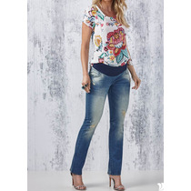 Calça Jeans Gestantes Mommybaby