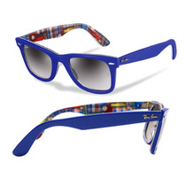 Oculos Ray-ban Wayfarer Rb2140 - 1134-71 Unisex Azul Multi