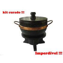 Fondue Kit Com Panela 2,2 Litros E Rechaud Pronto Para Uso