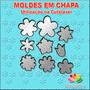 Molde Chapa Flores Máquina Corta Feltro - 10cm